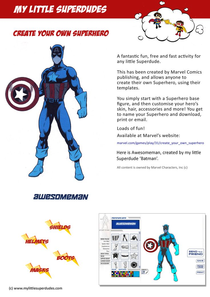Create Your Own Superhero Worksheet : Best fun free kids printables and activities images on