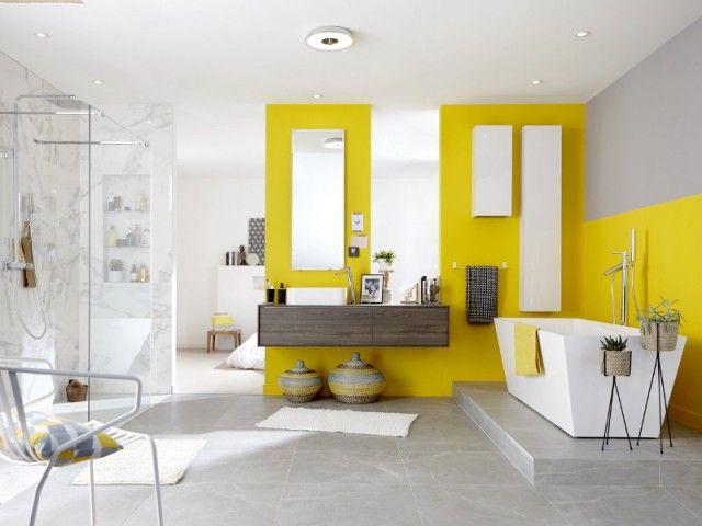 117 best Salle de bain images on Pinterest Flooring ideas, Living - plafond pvc pour salle de bain