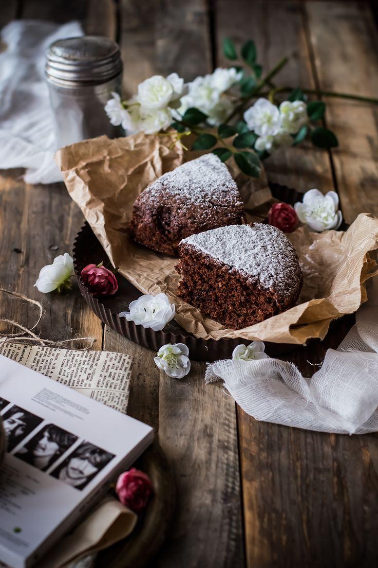 Torta al cioccolato, noci e Rum- recipe in Italian