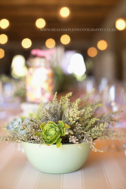 succulents and wildflowers, add color with sunflowers, daisies