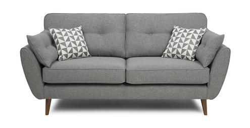 Zinc 3 Seater Sofa Zinc | DFS