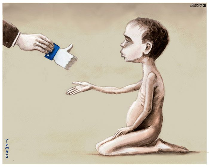 Our digital solidarity with the poor and hungry. Today's cartoon by Tomas: https://www.cartoonmovement.com/cartoon/42923