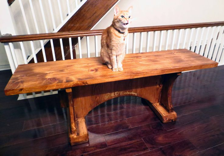 Reclaimed Pine Bench with its new owner