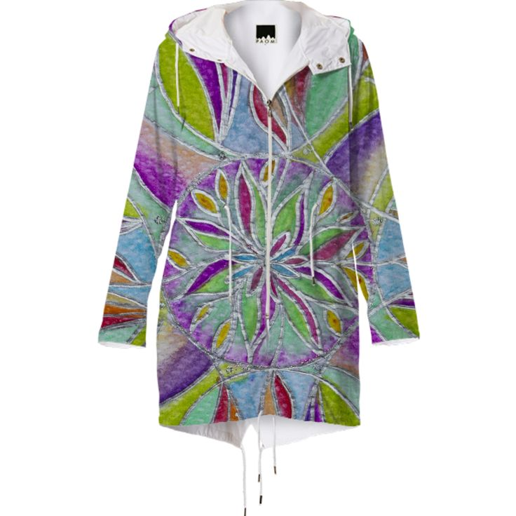 Mandala Raincoat from Print All Over Me
