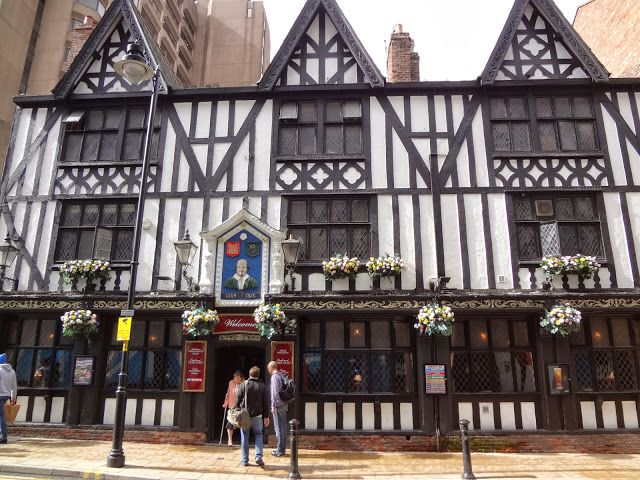 The Shakespeare - Manchester, England  This is my favorite place to drink and socialize. My early fascination with this building is thanks to it's typical Tudor style of architecture and it's history.