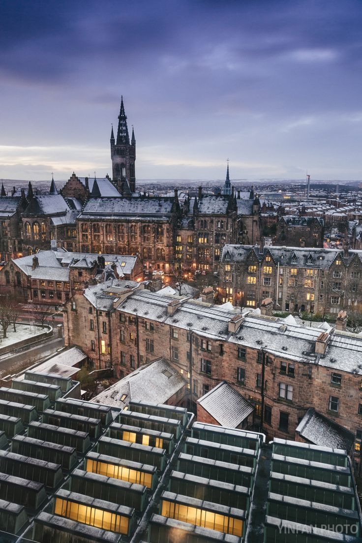 My first university, view from the library Glasgow, Scotland