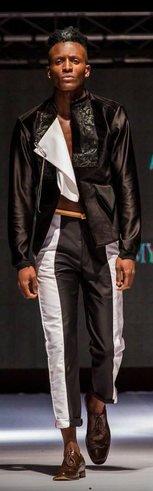 Zambia Fashion Week 2017.Designer-Richard Miles Kasanda, Label : MK72 Alchemy,Zambia.