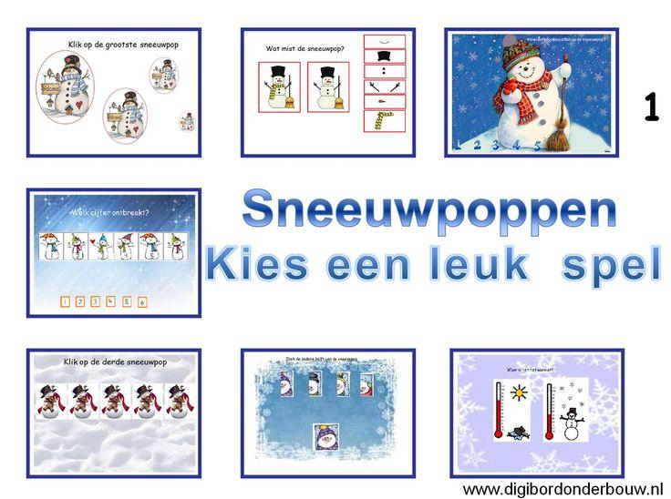 Powerpoint Downloads - Sneeuwpoppen: kies een leuk spel 1