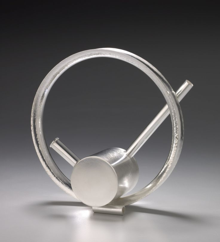 """JACK DA SILVA ROUNDABOUT TEAPOT  Sterling silver, formed and fabricated.  5"""" x 5"""" x 2"""""""