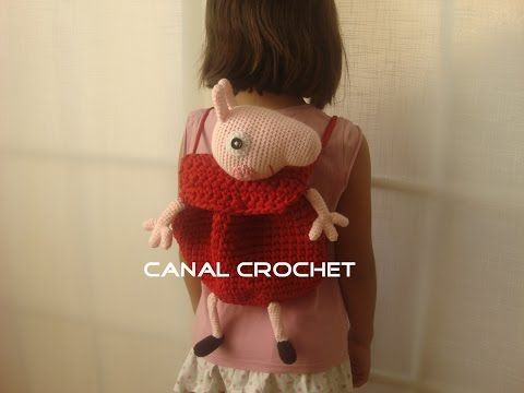 CANAL CROCHET: Peppa Pig Backpack trapillo Free pattern: