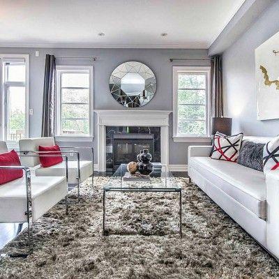 Southvale Living Room Diamond Mirror Black Marble