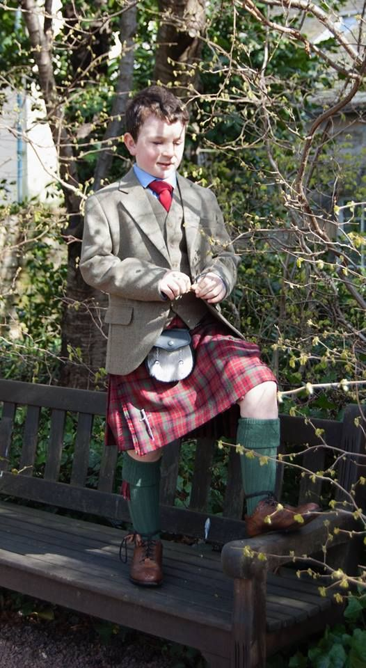 Kids Tweed Kilt Outfit to Hire by GNK http://nicolsonkiltmakers.com/