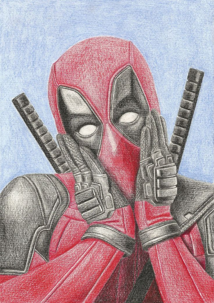 Art Sketches Picture Em 2019 Desenhos Deadpool Marvel
