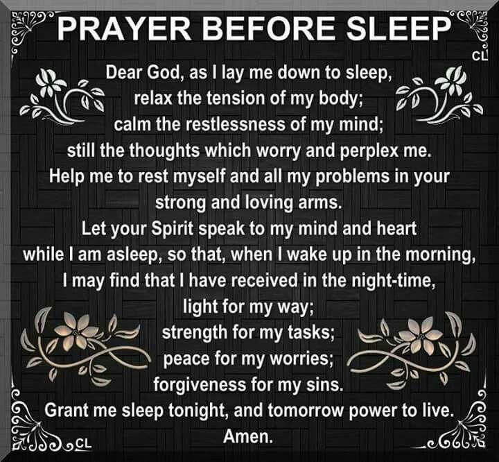 """Prayer Before Sleep"""