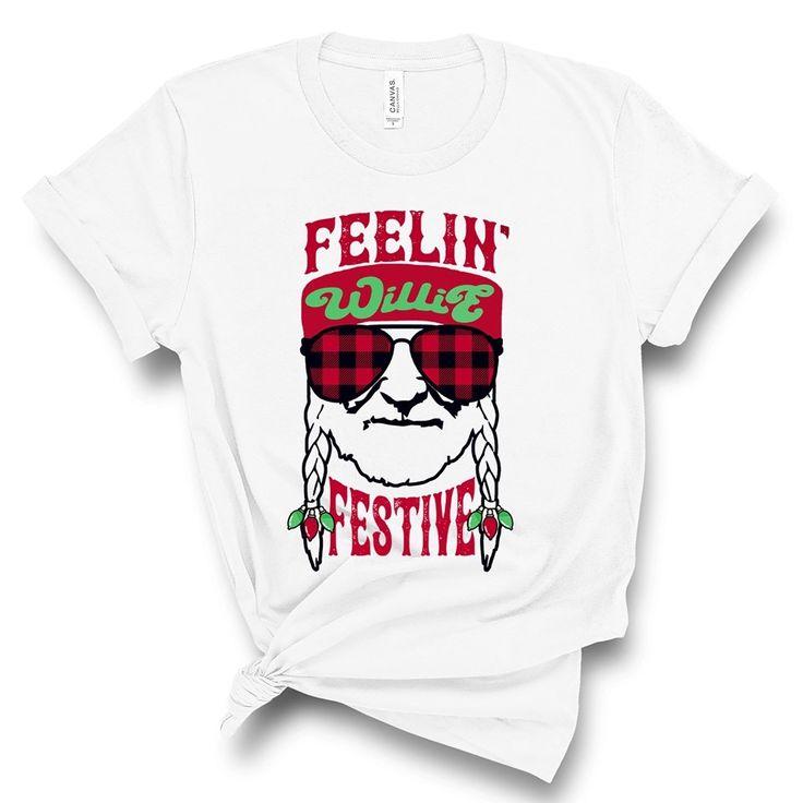 Download Willie Nelson x mas | Shirts, Shirt designs, T shirt