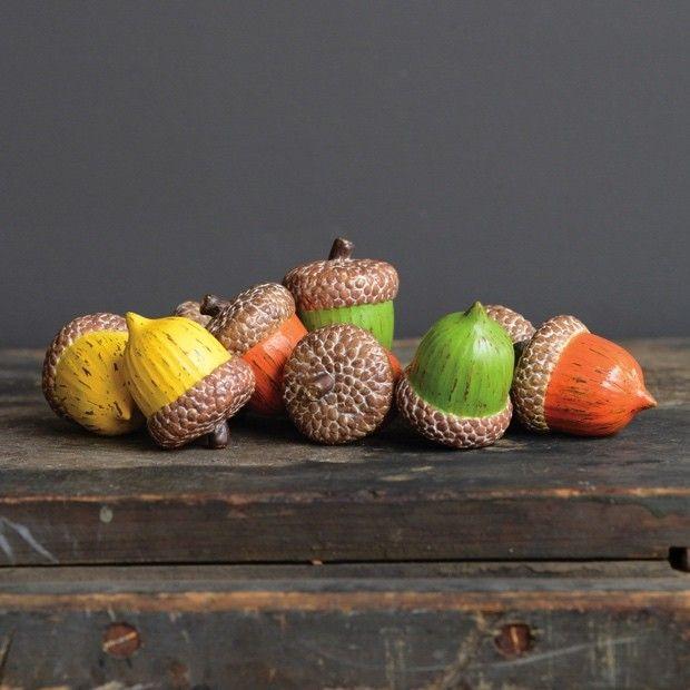 Acorn Decorations, Set Of 12