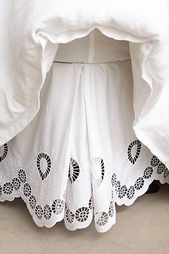 Eyelet Embroidered Bedskirt