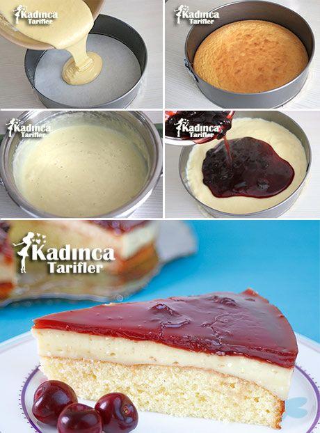 Vişne Reçelli Yaş Pasta Tarifi