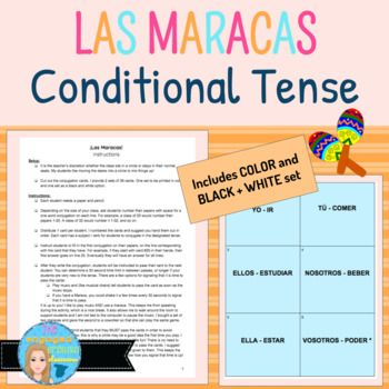 183 besten Spanish Future and Conditional Tenses with Clothing Vocab ...