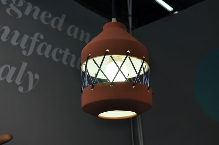 Tie lamp by @lauramarinz at Maison&Objet 2015