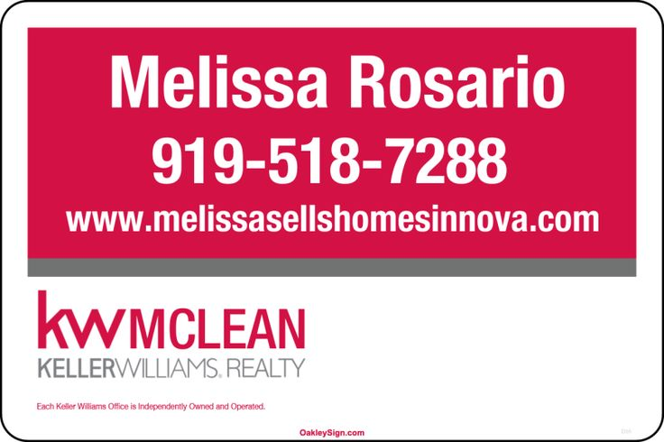 "12"" x 18"" Magnetic Car Signs - KELLER WILLIAMS Real Estate Signs"