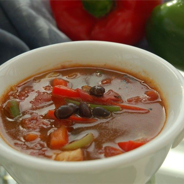 Easy chicken fajita soup this soup is simply made with for Easy tasty soup recipes