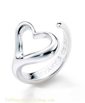 Tiffany & Co Outlet Elsa Peretti Open Heart Ring