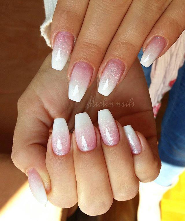 tee baby boomer nail gel nails nail nail manicures bridesmaids wedding nails ombre creative nails