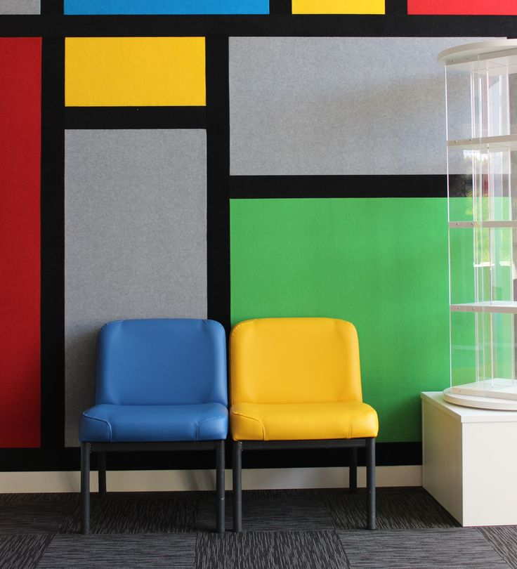 A recent install in a school library in Auckland #destijl #upholstery #custom #shelving