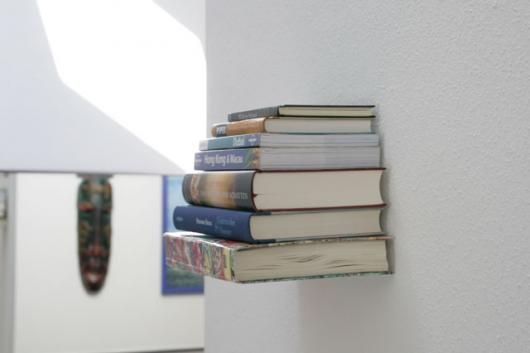DIY invisible bookshelf. Awesome!