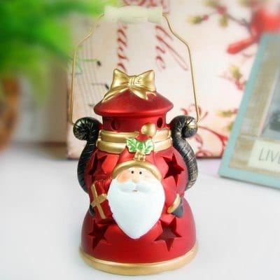Ручные керамические декорации для украшения Санта-Клауса Изменение светодиодного света на рождественские подарки