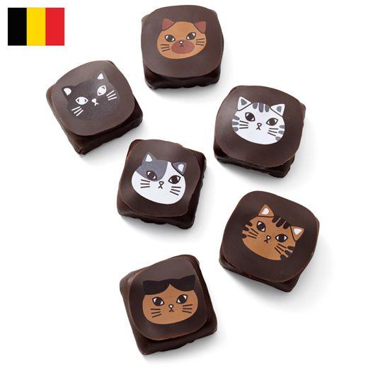 ベルギーの人気店が作った、フェリシモオリジナルチョコ。 【バレンタインお届け】チョコフィーノ ねこチョコ