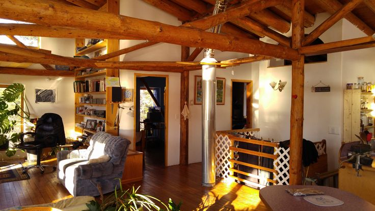 Timber Frame Straw Bale Home for Sale, Kootenay Lake, BC, Canada, Canada