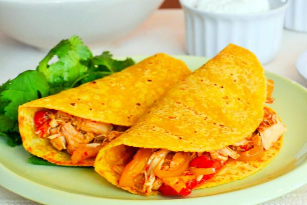 Slow Cooker Chicken Tacos is a great weeknight dinner. Also perfect for the weekend.