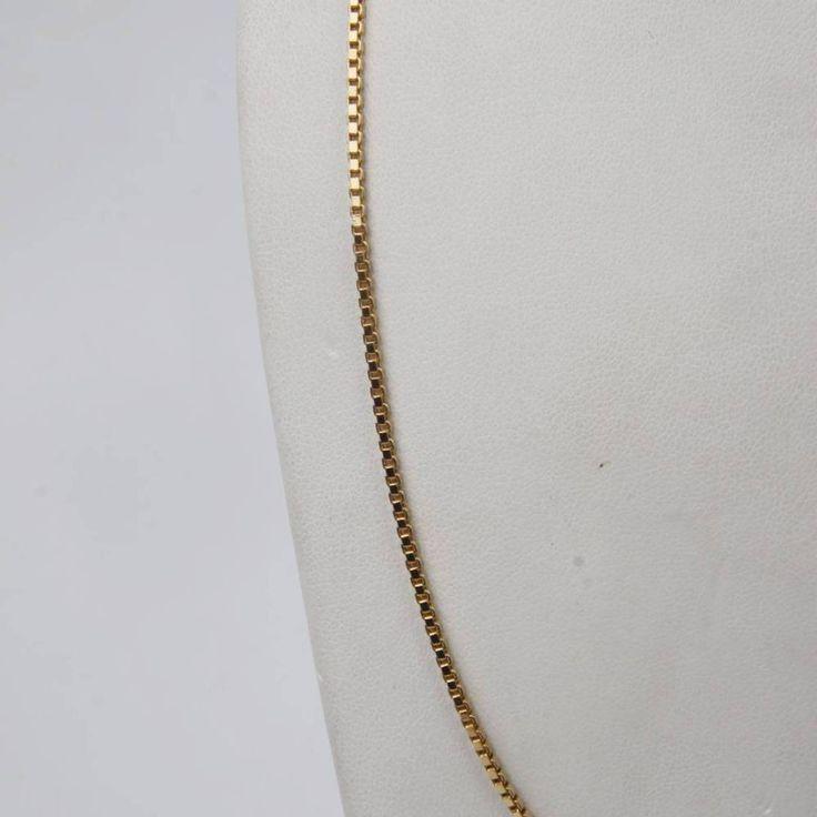 Cadena de oro macizo de 18 kilates#cadena#  de segunda mano#oro macizo