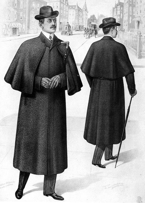 The ulster coat was worn by men in the bustle period as an overcoat with a cape. Description from pinterest.com. I searched for this on bing.com/images