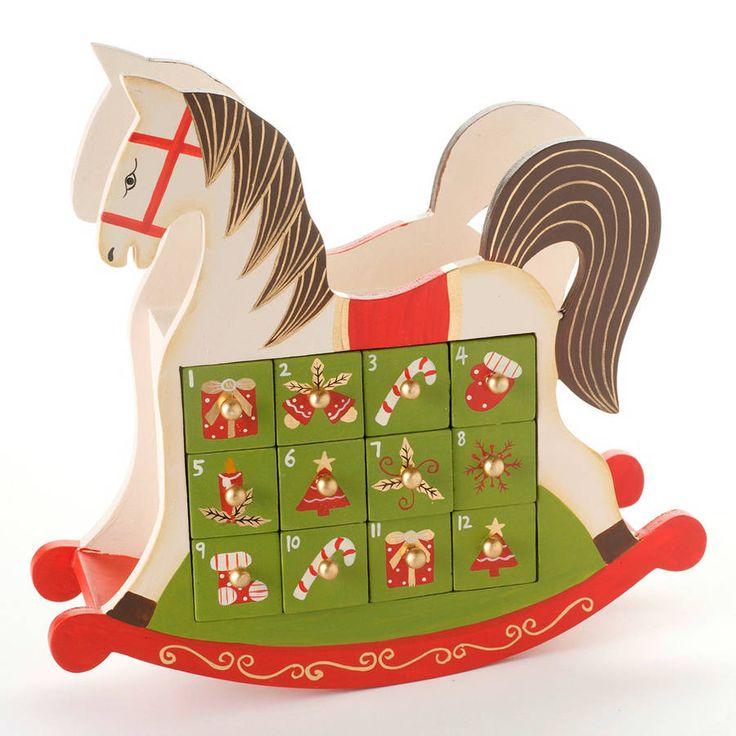 Wooden Nordic Advent Tree Calendar
