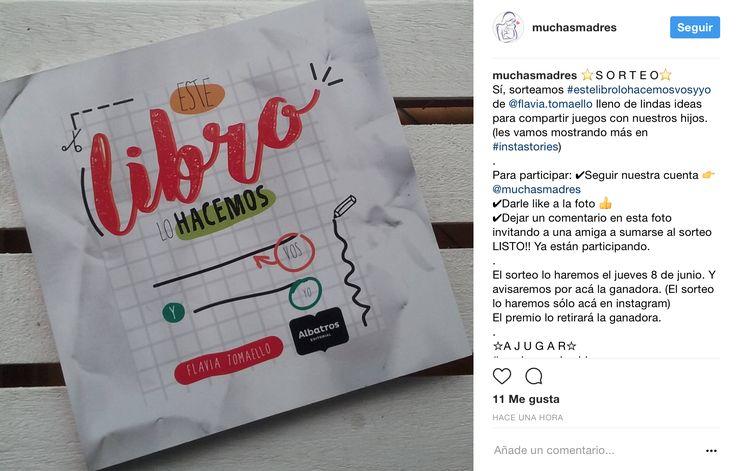 En Muchas Madres quedaron tan encantadas con   #EsteLibroLoHacemosVosYYo de Editorial Albatros que armaron un #sorteo  Las bases están en la foto. #reciclar #conectar #craft #manualidades #facil #hogar #niños #mama #hijo #mamablogger #mamabloggera #mum #mom #mami #book #libro