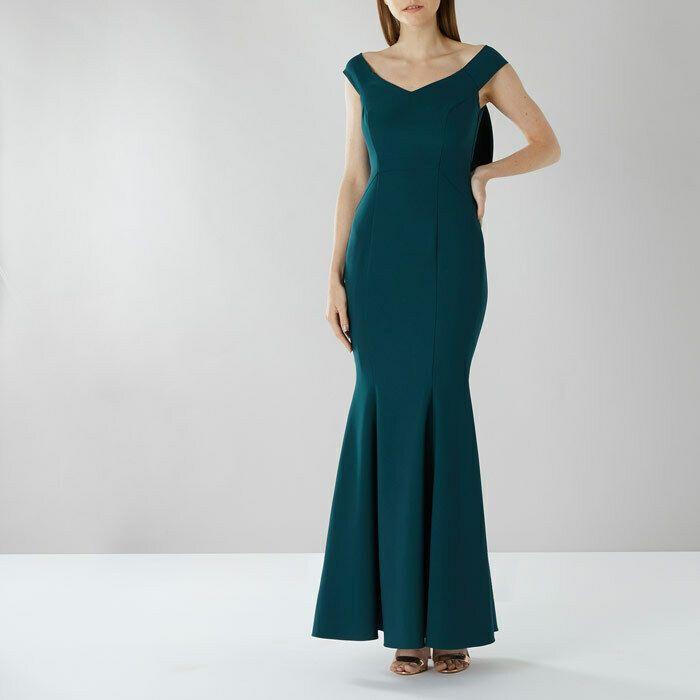 38e598781001 Coast Jade Mel Fishtail Bardot Bow Maxi Cocktail Wedding Party Dress 8 36  New #Coast #MaxiDress #SpecialOccasion