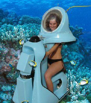 Ride a sea scooter in the Bahamas! Is this for real?