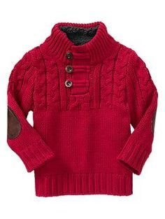 Cable knit pullover from baby gap...eli needs this for our christmas card.