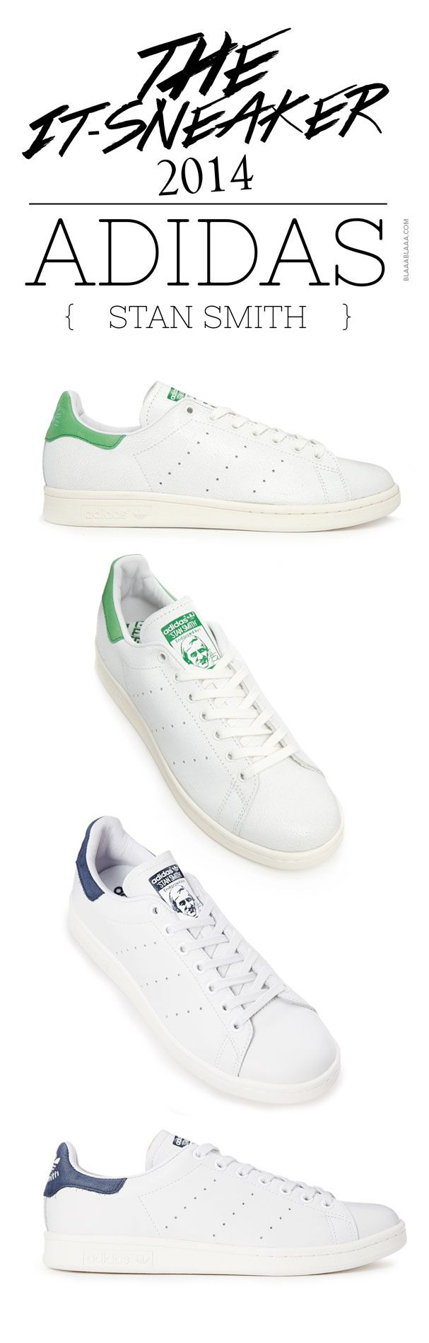 Der It-Sneaker 2014:  adidas Stan Smith Just CLICK here ... http://www.blaaablaaa.com/2014/01/30/der-it-sneaker-2014-adidas-stan-smith/