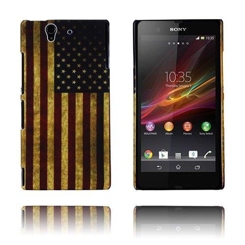 Retro Flag (USA) Sony Xperia Z Deksel