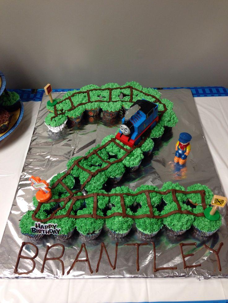 Train Birthday Cupcakes
