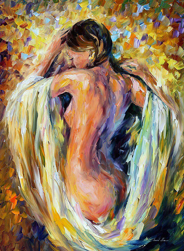 MODEST GIRL - PALETTE KNIFE Oil Painting On Canvas By Leonid Afremov https://afremov.com/MODEST-GIRL-PALETTE-KNIFE-Oil-Painting-On-Canvas-By-Leonid-Afremov-Size-40x30.html