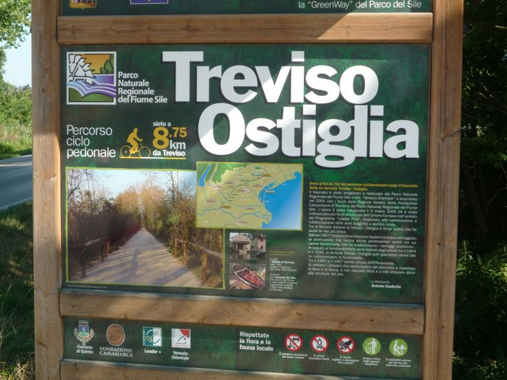 An old train way becomes a bike way: Treviso - Ostiglia