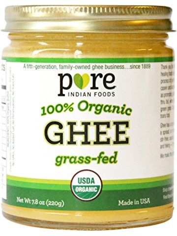 Did you know ghee has a higher smoke point than coconut oil? This is the best ghee on the market, IMO. It's so smooth and creamy. I'm a fan!  Grassfed Organic Ghee 7.8 Oz - Pure Indian Foods(R) Brand
