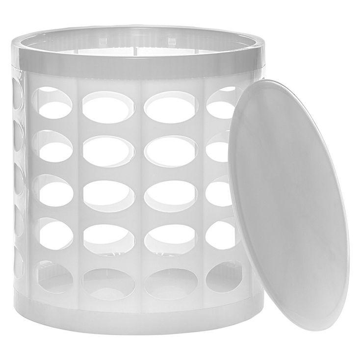 GitaDini Storage Ottoman - Perforated White