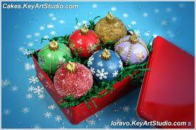 Картинки по запросу торт новогодняя коробка с игрушками