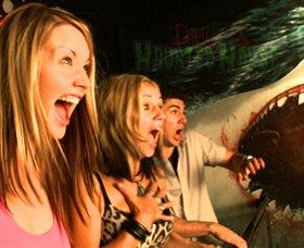 """Draculas Haunted House: Dracula's new venture the AUD6.5 million dollar haunted """"Walk-through"""" attraction in Surfers Paradise is now open.  The Haunted House offers an amazing interactive journey through creepy comedy satire, museum oddities and optical illusions. Set..."""